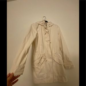 Zara off white denim jacket
